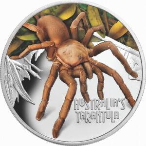 Tuvalu-2020-Deadly-amp-Dangerous-Tarantula-Spider-1-Silver-Color-Proof-FULL-OGP