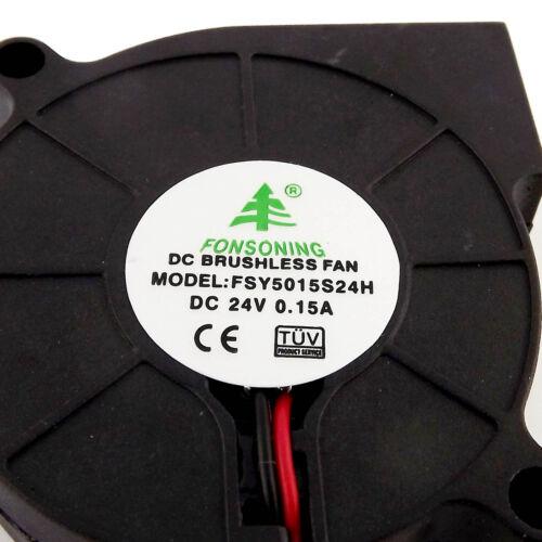 1pcs Brushless DC Cooling Blower Fan 5015 FSY50S24H DC 24V 50 x 50 x 15mm 2 Pin