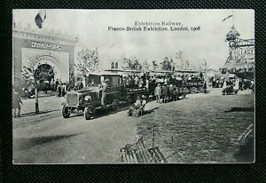 EXHIBITION-RAILWAY-FRANCO-BRITISH-EXHIBITION-1908-LONDON-POSTCARD