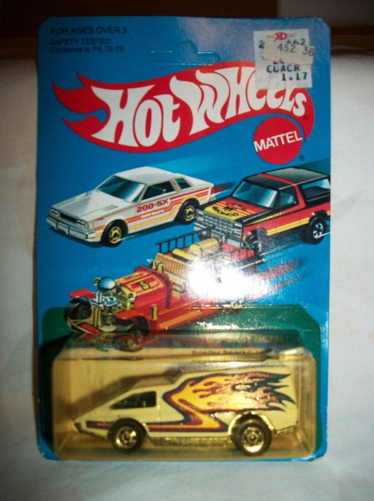 HOT WHEELS 1981 SPOILER SPORT NO. 9641 bianca RARE  DIE CAST METAL UNPUNCHED