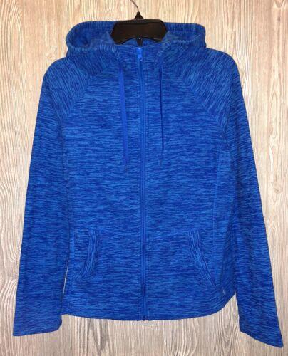 90 DEGREE REFLEX Prove Them Wrong Blue Space Mic Fleece Hoodie Jacket Womens M L