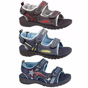 New-Boys-Kids-Summer-Sandals-Double-Starp-Walking-Sports-Beach-Shoes-UK-Size