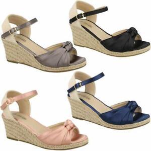 Ladies-Wedge-Sandals-Fancy-Summer-Dress-Heels-Comfort-Walking-Party-Shoes-Size