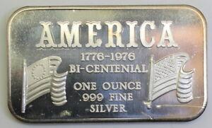 Silver-Art-Bar-Madison-Mint-1976-America-Bicentennial-MAD-119-1ozt-Troy-Ounce