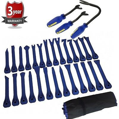 11pc Window Seal Trim Removal Pry Bar Tool Panel Door Interior Clip Remover Kit
