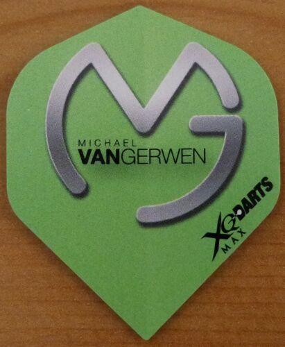 "3X3 QX Max /""Michael Van Gerwen/"" MVG Logo Standard Shaped Dart Flights 3 Sets"