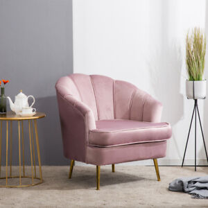 Pleasing Details About Velvet Pink Crushed Back Occasional Accent Armchair Bedroom Lounge Chair Sofa Uk Pdpeps Interior Chair Design Pdpepsorg