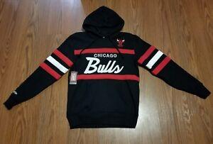 ecbb50713b7ea NWT CHICAGO BULLS Mitchell Ness NBA Head Coach HOODY Sweatshirt sz ...