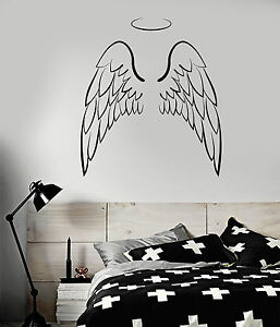 Details About Vinyl Wall Decal Angel Wings Bedroom Decoration Stickers Mural Ig4107