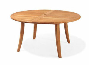Image Is Loading 52 034 ROUND TABLE A GRADE TEAK WOOD