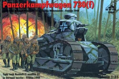 PZ.KPFW 730 WEHRMACHT MARKIERUNG 1//35 RPM RARITAT! f // RENAULT FT 31