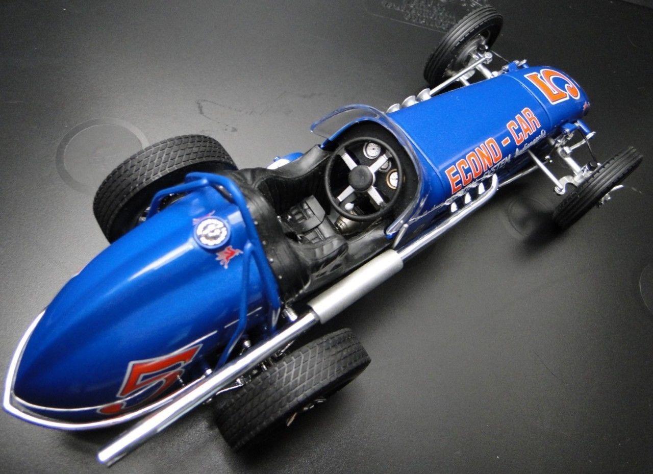 1960s Racer Vintage Indy Race Car Sport ENANO F 1 18 Carrusel blu 24 Metal 12