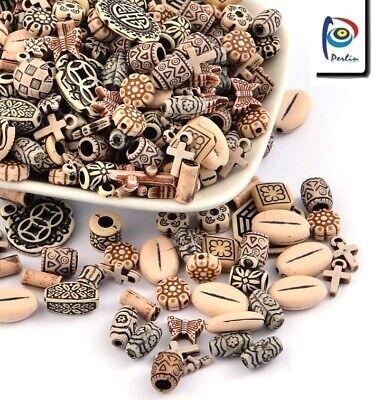 50g Kunststoffperlen Gemisht Tibet Antik Schmuck Acryl Zwischenperlen Mix D120
