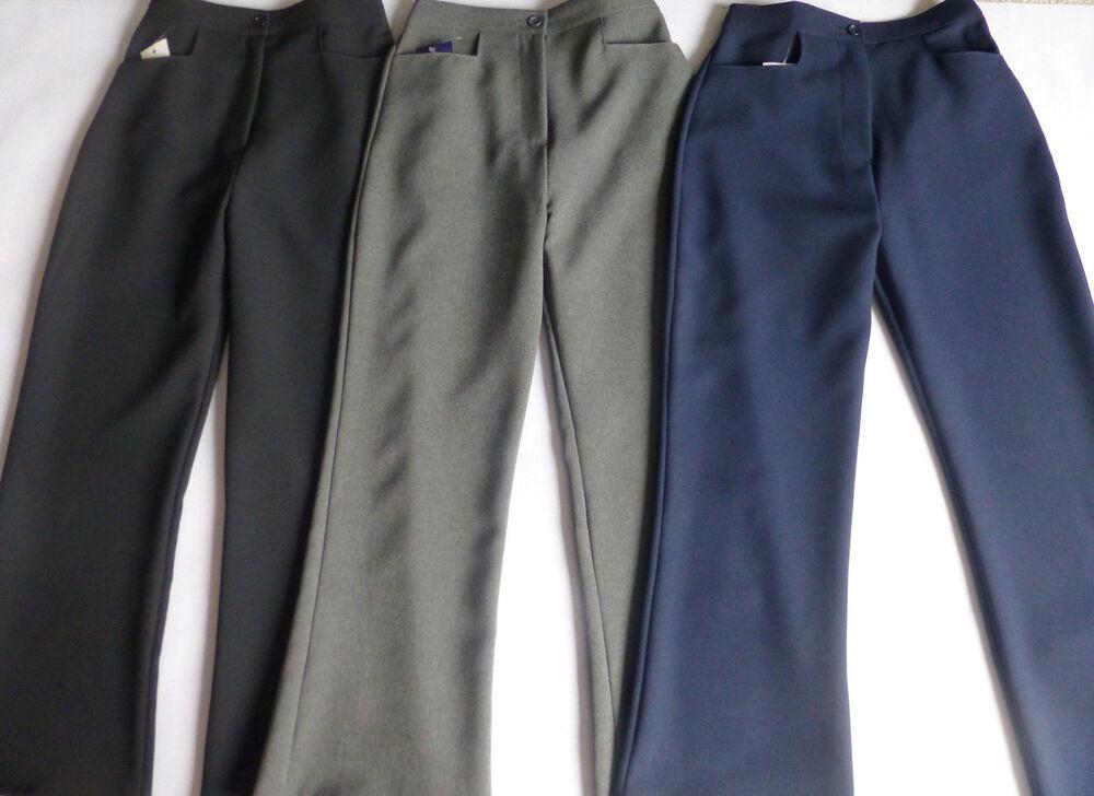 Femme/femmes Smart Pantalon Courte Jambe élastique Dos Taille 30-34 Jambe 27 In (environ 68.58 Cm) Was9.99