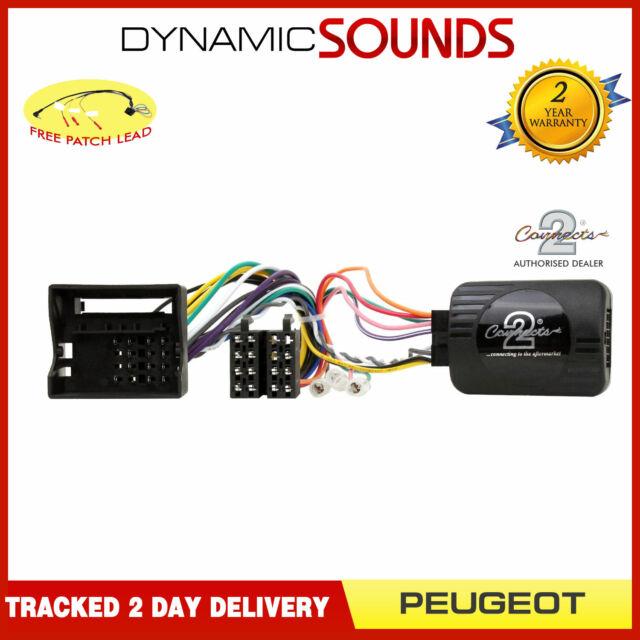 DS-PG007 Control Adaptador de Dirección Con Parche Cable para Peugeot 307 2005>