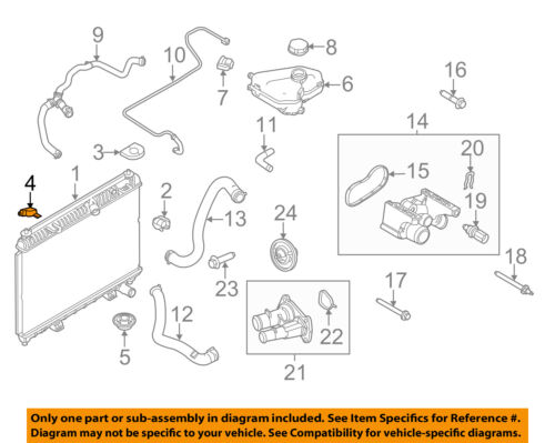 FORD OEM 11-18 Fiesta 1.6L-L4-Radiator Upper Bracket AE8Z8A194A