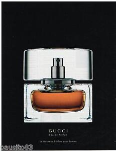 PUBLICITE ADVERTISING 105  2002  GUCCI  eau de parfum femme
