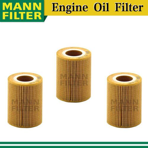 Mann Engine Oil Filter 3X for 16-19 Land Rover Range Rover Sport V6 3.0L AY17