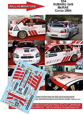 DECALS 1//43 REF 885 PEUGEOT 206 WRC CARLSSON RALLYE TOUR DE CORSE 2004 RALLY