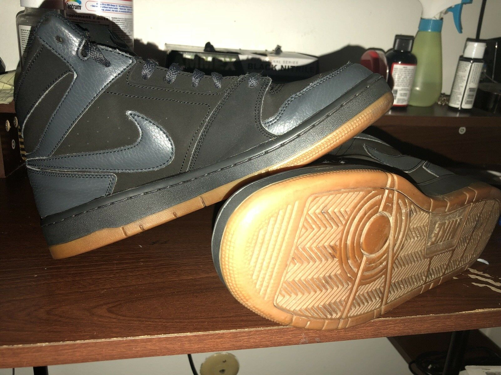 Nike Shoes Black With Brown Bottom. Preowned. Great Condition