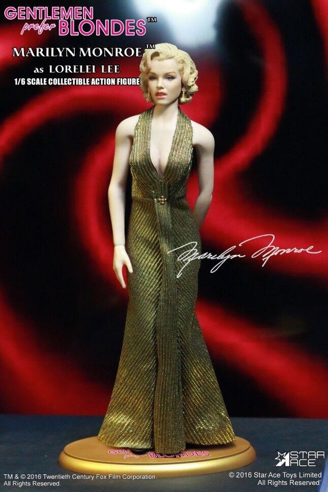 MARILYN MONROE  LORELEI LEE oro DRESS VERSION 1 6 Acción Figura 12″ Estrella ACE