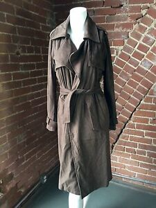 fa527e8b0a7 New Brown Xs Jacket Suede Outerwear Coat Basic Nwot Trench Velvety Tie Long  Zara 4fq8HncWz