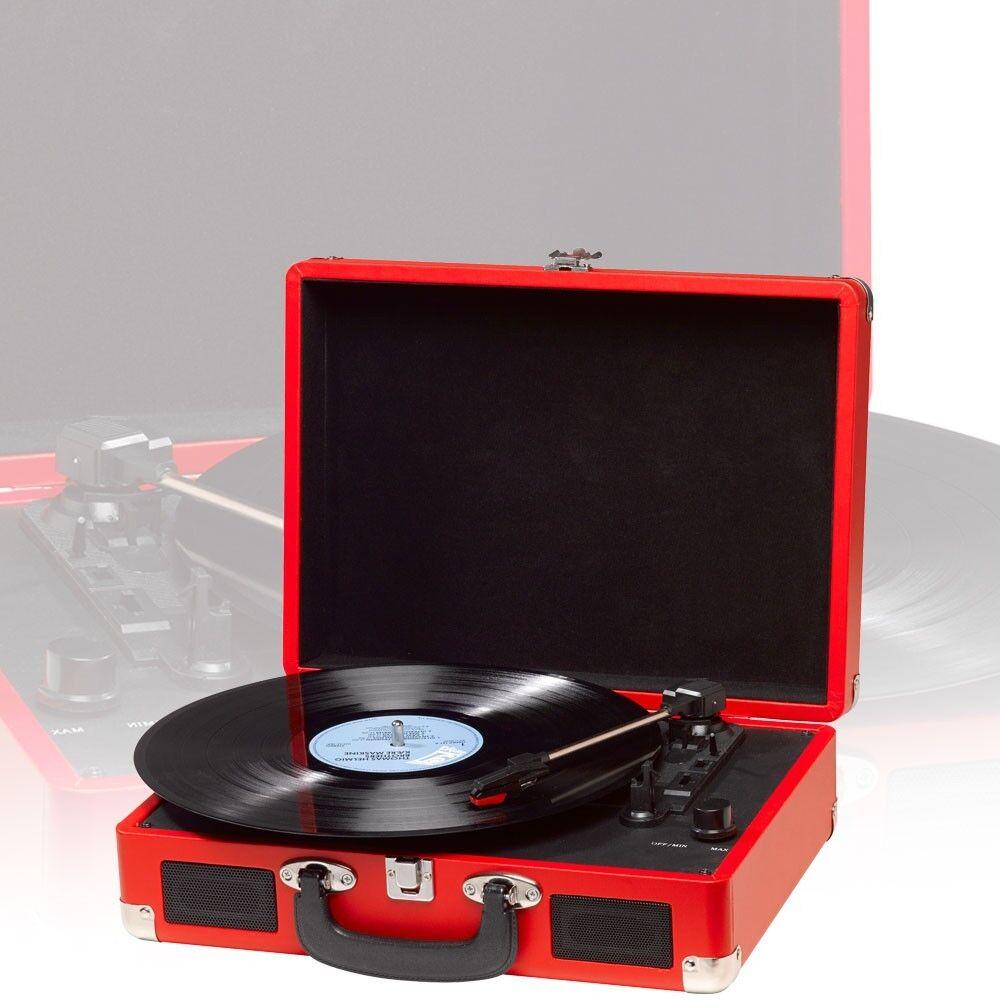 Schallplatten Spieler PC Turntable Vinyl AUX IN HiFi Lautsprecher Denver VPL-120