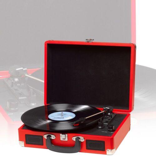 Schallplattenspieler HiFi Lautsprecher Koffer rot PC Living-XXL