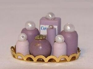 Vanity Set (Purple) Dollhouse Miniatures 1:12 Scale