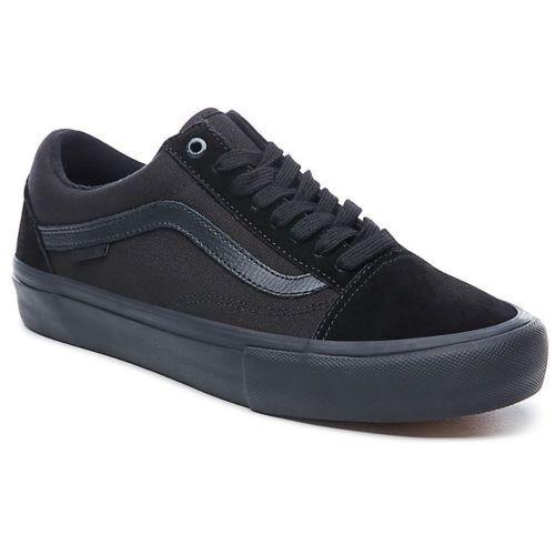 Vans Old Skool Pro (Blackout) Men's Skate Shoes