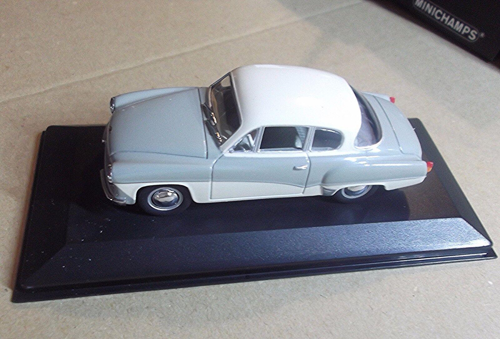 43015920 Minichamps Escala 1 43  Wartburg un 312 Coupé  grigio biancao