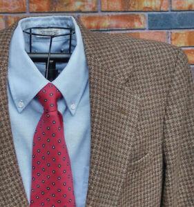 plaid marrone Woolrich Cappotto rosso 42l pied sportivo poule raro tweed de lana in marrone Tag Blazer xxBOwq