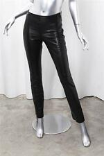 GUCCI Black Leather Pants Slacks Trousers sz. 38 XS
