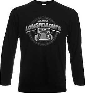 Longsleeve/Lan<wbr/>garmshirt schwarz US Car-,Hot Rod-&´50 Style Modell Longfellows