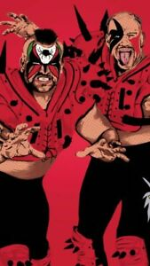 Legion-of-Doom-Wrestling-Art-Glossy-Print-8x10-WWF-WCW-Hawk-Animal-Road-Warriors
