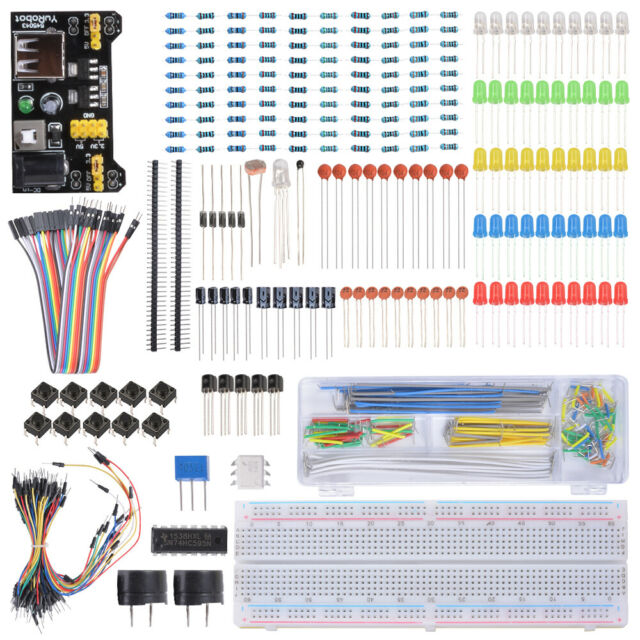 Starter Basic Kit Breadboard LED Jumper Wire for Arduino for Raspberry Pi TE715