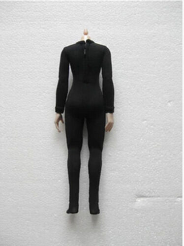 Female Clothes Accessory 1//6 Jumpsuit  Black Corset Elastic Body Suit Model D