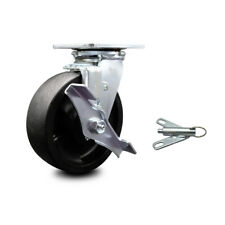 6 Inch Glass Filled Nylon Caster With Roller Bearing And Brakeswivel Lock Scc
