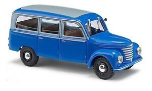 Bien Busch 51251 H0 1:87 Framo V901/2 , Bus, Bleu Neuf Emballage D'origine