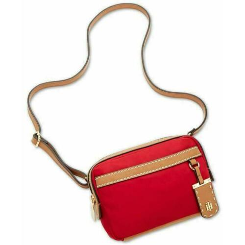 Tommy Hilfiger Women/'s Julia Convertible Red Nylon Cross Body Belt Bag Red NWT