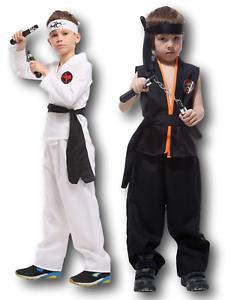 BOYS COBRA STREET KARATE FIGHTER KID COSTUME KIDS CHILD KOMBAT JOE FANCY DRESS