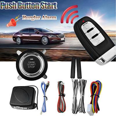 8Pcs Car Security Alarm Start System Smart Key Passive Keyless Entry Push Button