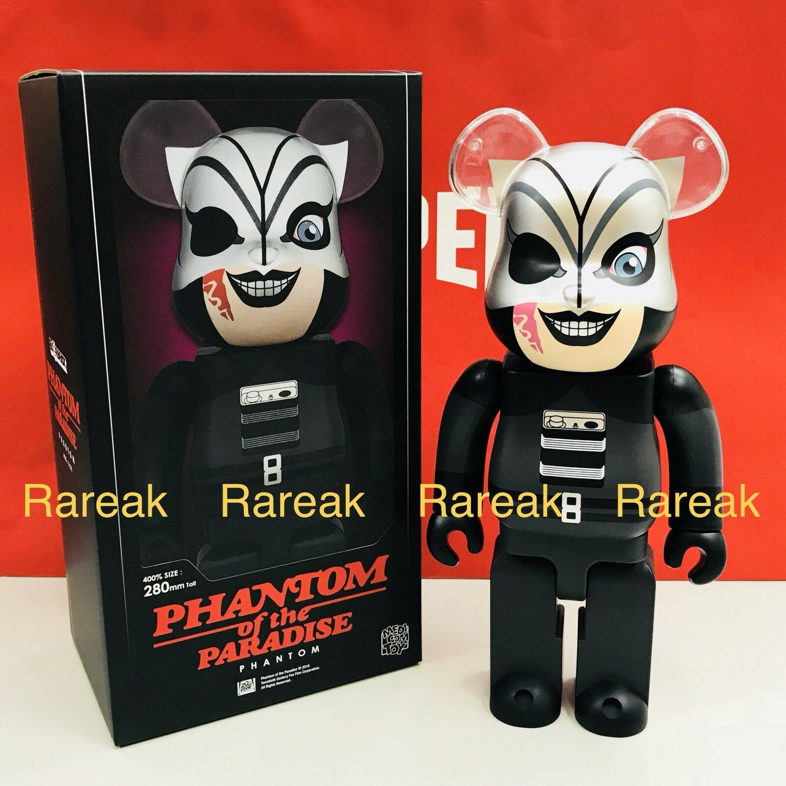 Medicom Be@rbrick 2018 fantasma de la Paradise 400% Rock 'n Roll Bearbrick 1pc