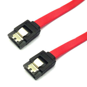 Latching-SATA-Cable-50cm-0-5m-Serial-ATA-Data-with-latch-Red-Cable-Pack-of-5