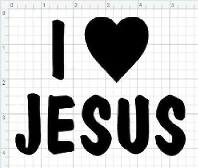 I Love Jesus Sticker Christ Vinyl Decal Church God Christian Religious Faith Car Ebay
