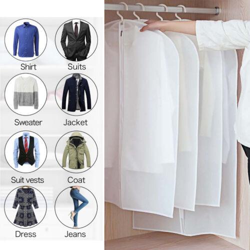 WATERPROOF GARMENT DRESS SUIT CLOTHES COAT COVERS PROTECTOR TRAVEL ZIPPED BAG UK