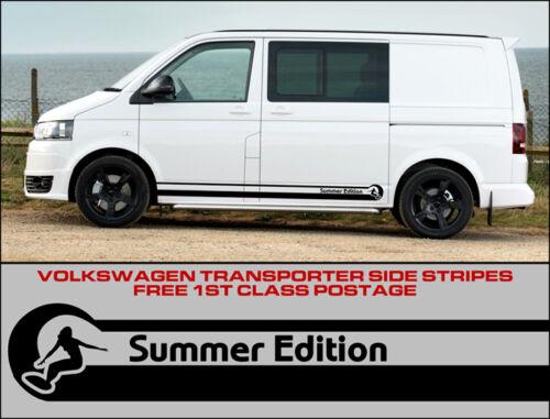 Volkswagen VW Side Stripes Decals Transporter T4 T5 Campervan Surf Summer