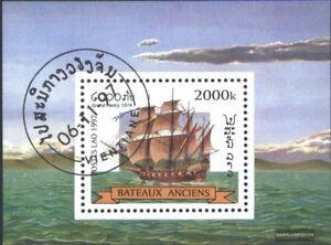 Laos-Block164-kompl-Ausg-gestempelt-1997-Segelschiffe