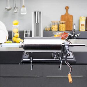 4.8L Máquina de Rellenador Embutidora Salchichas Chorizo Manual Llenador Inox.