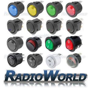 ON-OFF-Rocker-Switch-Round-LED-illuminated-Car-Dashboard-Dash-Boat-Waterproof